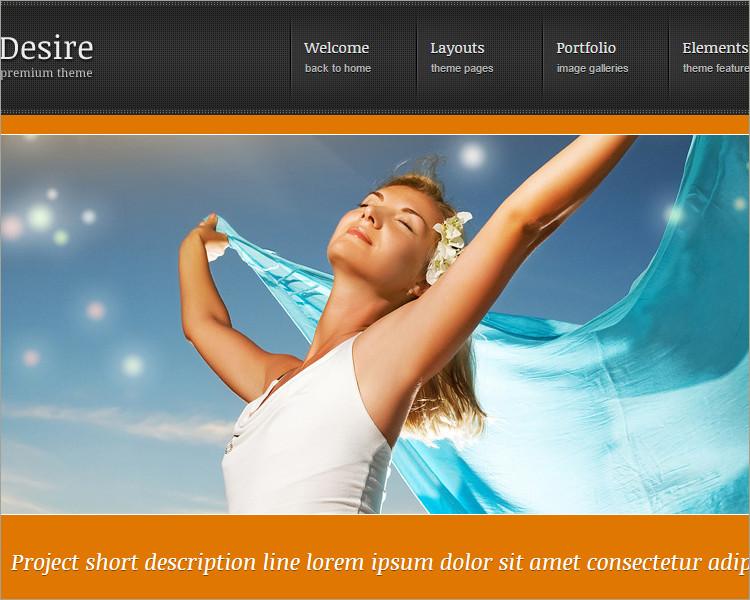 photo gallery website theme