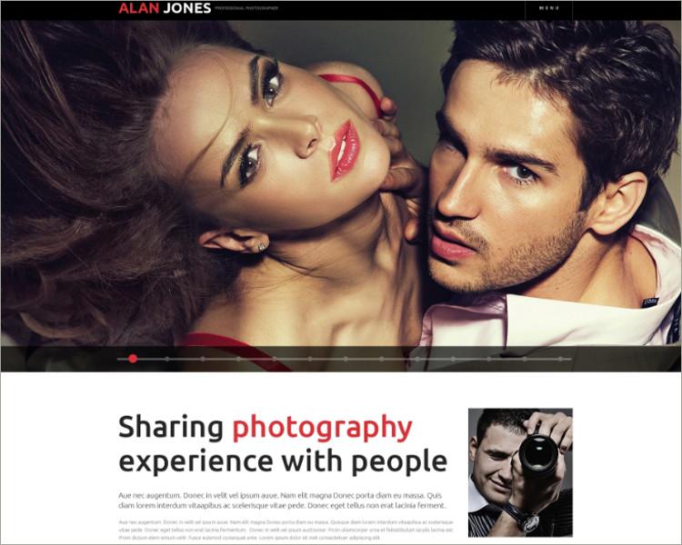 photographer website theme