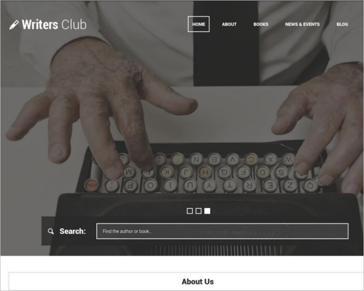 popular writers Bootstrap Template