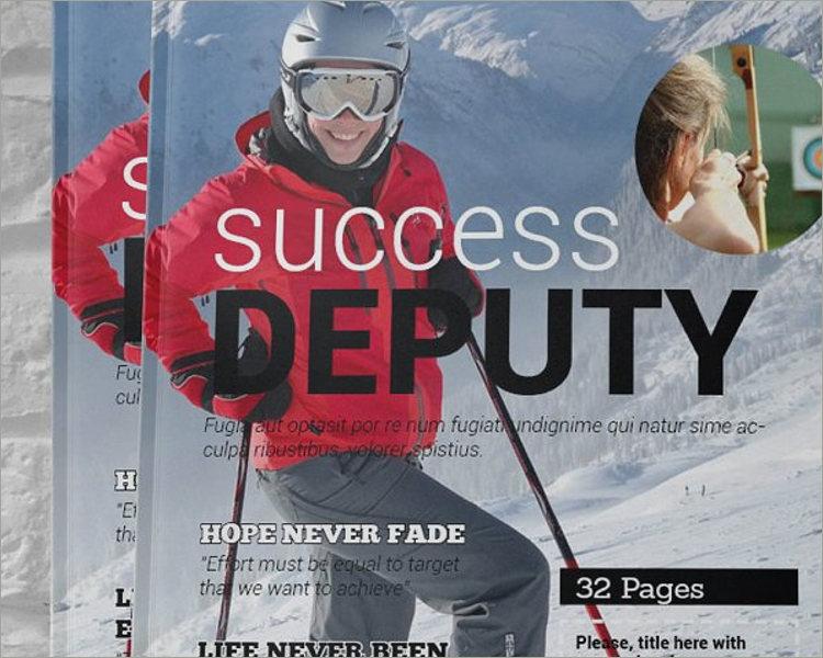 printable sports magazine template