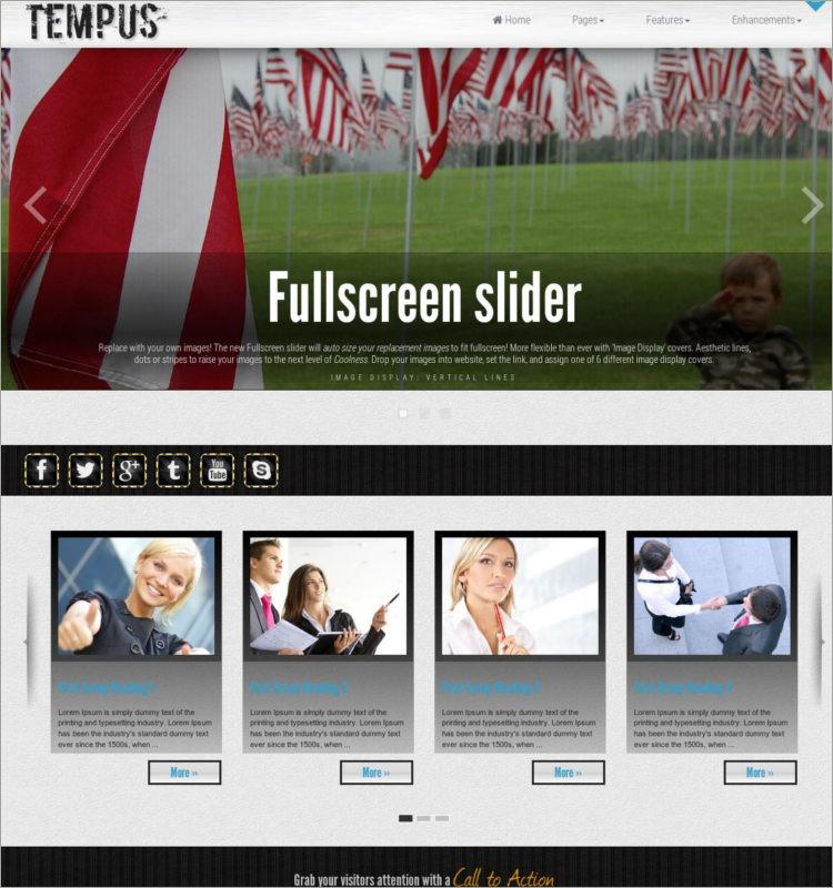 responsive Patriotic WordPress Theme