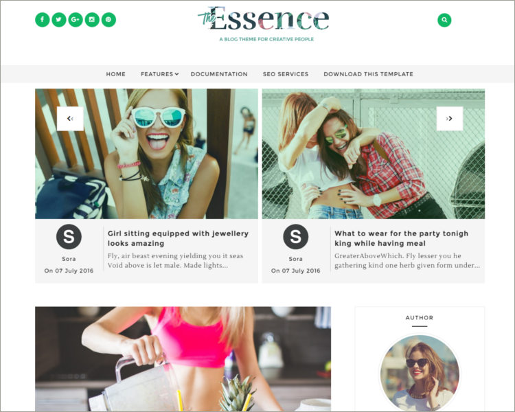responsive free blogger theme