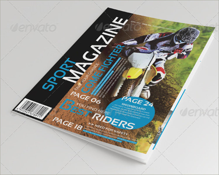 riders magazine template