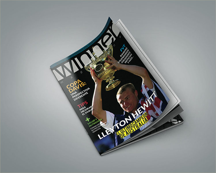 sample sports magazine template