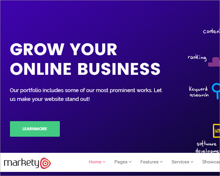 seo digital agency wp template