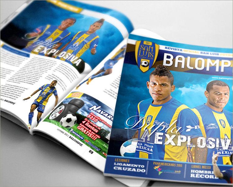 soccer magazine template
