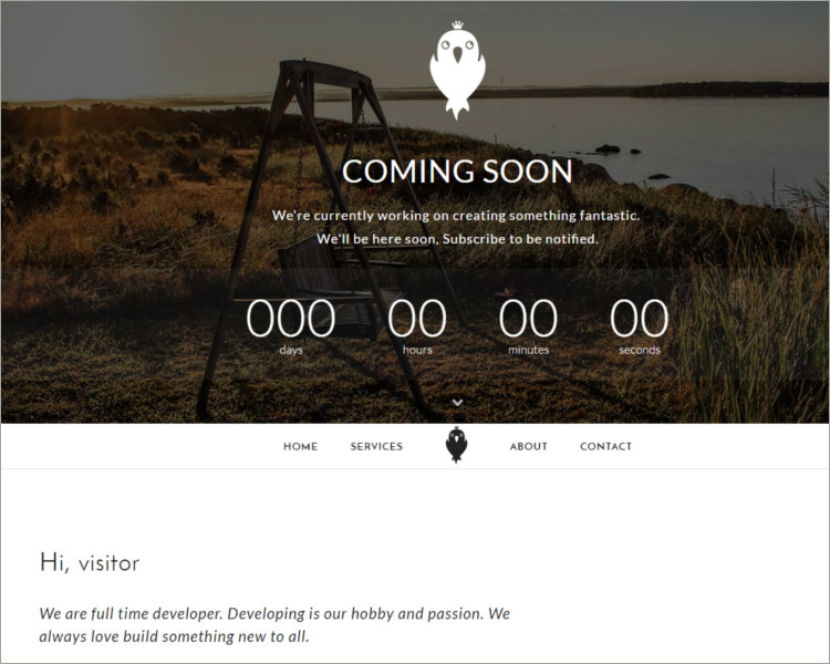 social media website coming soon page