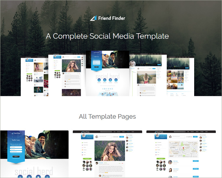 23+ Social Media Website Templates & Themes || Free & Premium ...