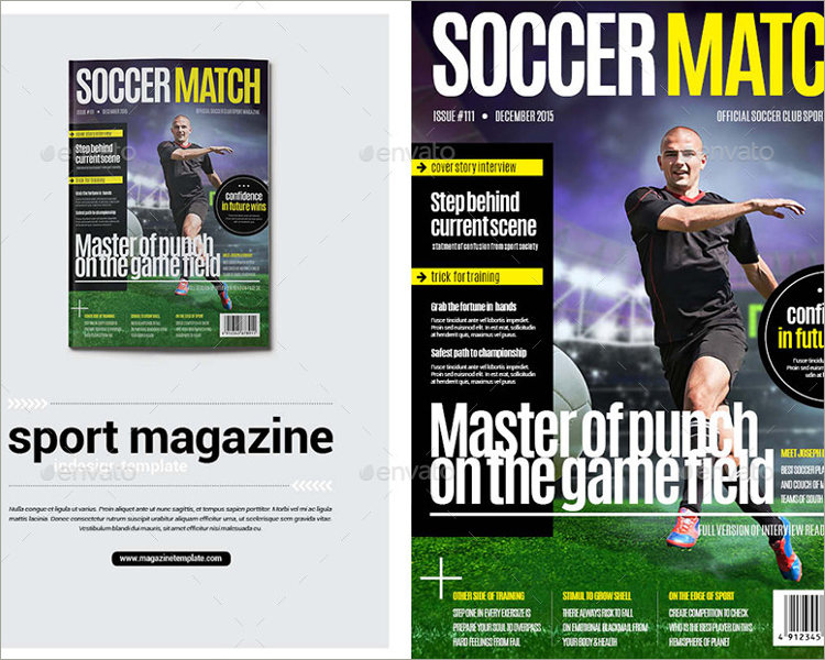 sports magazie template download