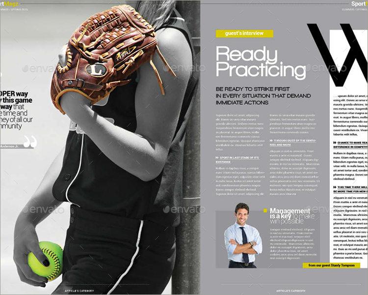 sports magazine theme