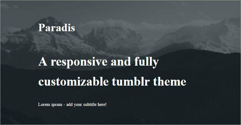 tumble theme