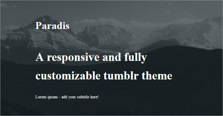 Dark Tumblr Themes