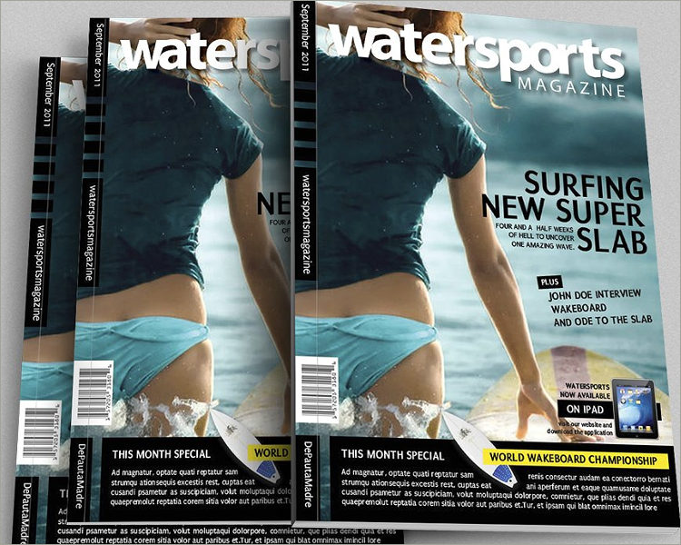 water sport magazine template