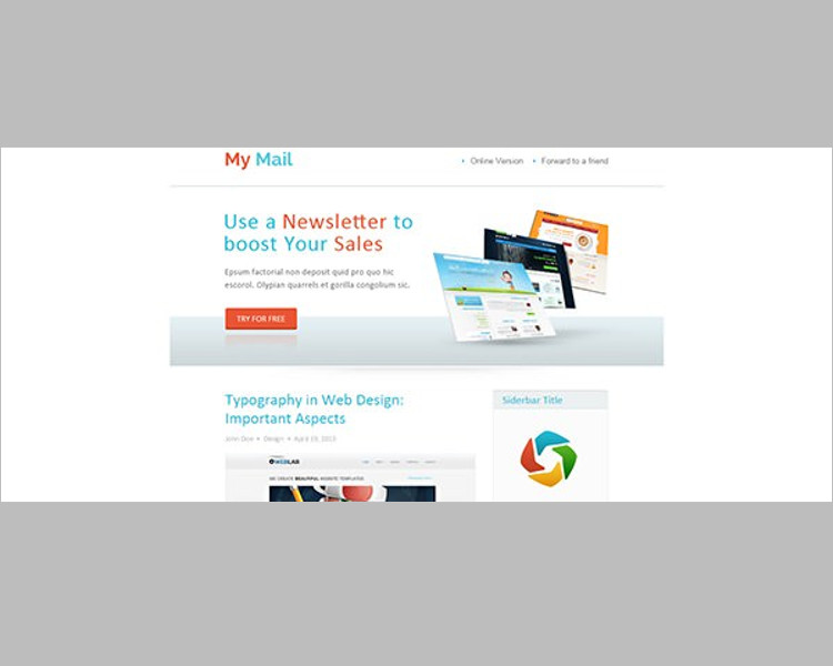 Abstract HTML Email Template