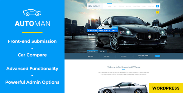 Advanced Car Dealer WordPress Theme