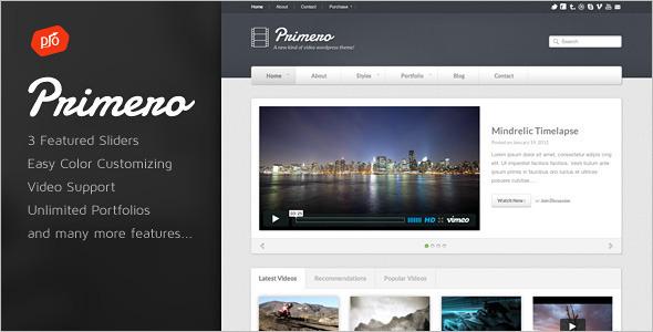 Agency Video WordPress Template