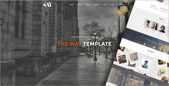 Animated Agency WordPress Template