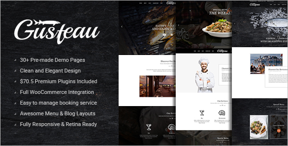 Animated Elegant Food WordPress Theme