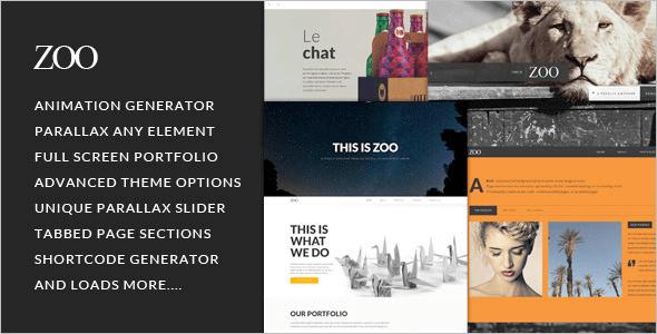 Animated Element WordPress Template