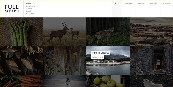 Animated Full-Screen WordPress Template