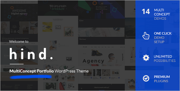 Animated Full Screen WordPress Template