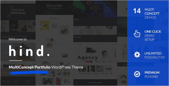 Animated Full Screen WordPress Template