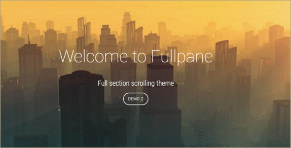 Animated Fullplane WordPress Template