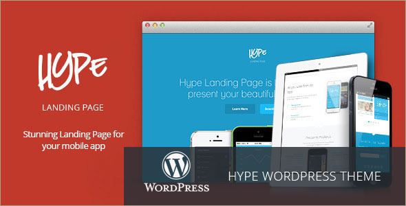 Animated Landing WordPress Template