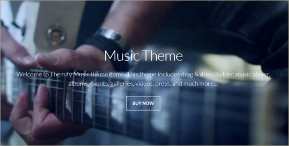 Animated Music WordPress Template