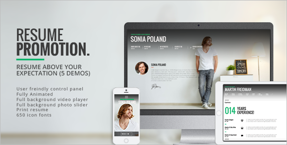 Animated Resume WordPress Template