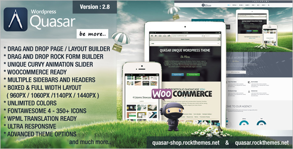 Animation Builder WordPress Template