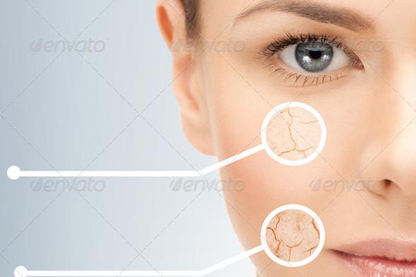 Anti-Aging Closeup Portrait Picture of Beautiful Woman