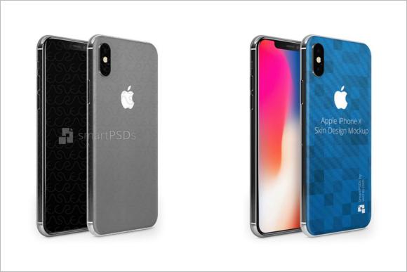 Apple iPhone Skin Mockup Template