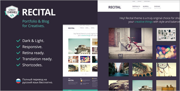 Art Blog Portfolio WordPress Template