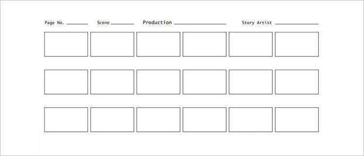 Artist Storyboard Template PDF