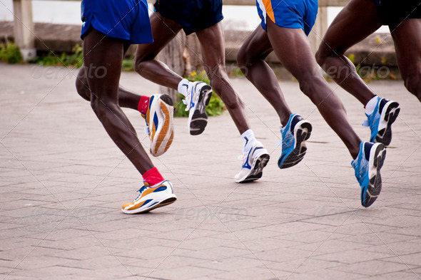 Athletic Marathon Jogging Stock Picture