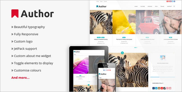 Auther WordPress Blog Template