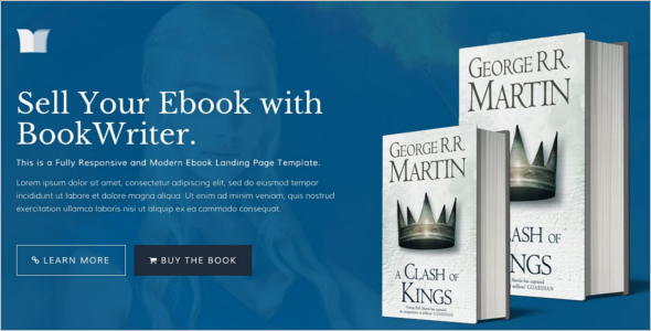 Author Ebook Landing Page Template
