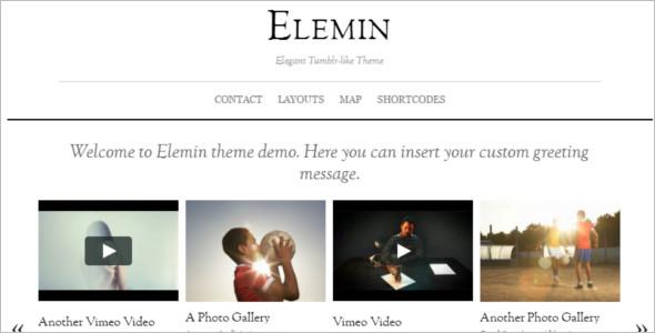 Author Gallery WordPress Template