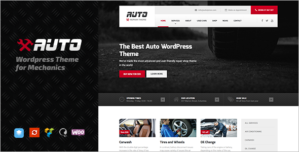 Auto Repair WordPress Template