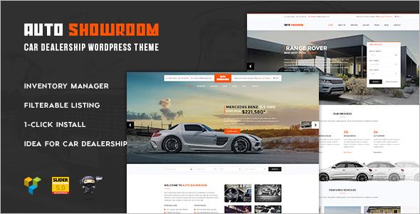 Auto Showroom WordPress Template