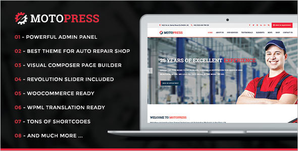 AutoPress Car WordPress Template