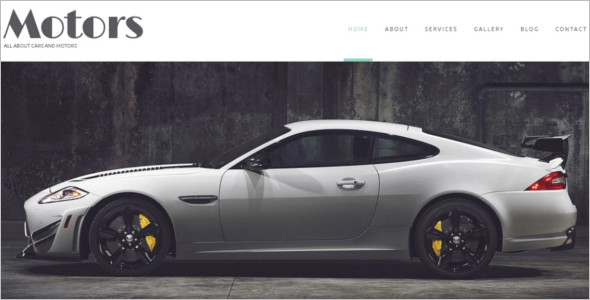 Automobile Manufacturer WordPress Theme