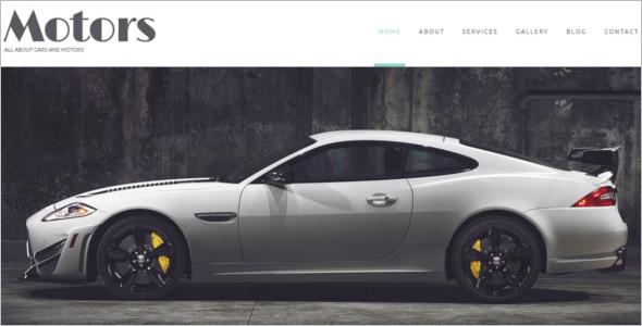 Automobile Manufacturer WordPress Theme