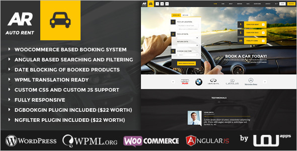 Automotive Automobile WordPress Template