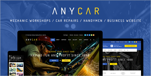 Automotive Business WordPress Template