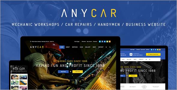 Automotive Business WordPress Template