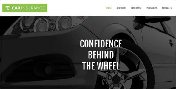 Automotive Car Insurance WordPress Template