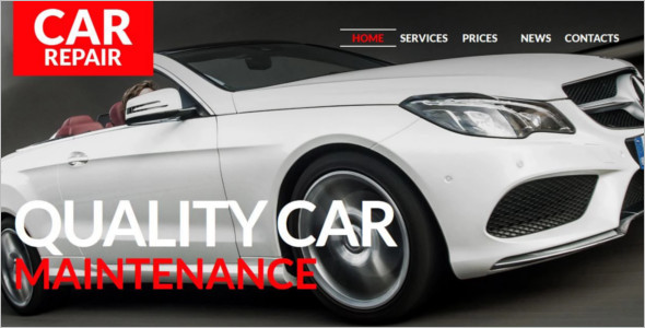 Automotive Car Maintenance WordPress Theme