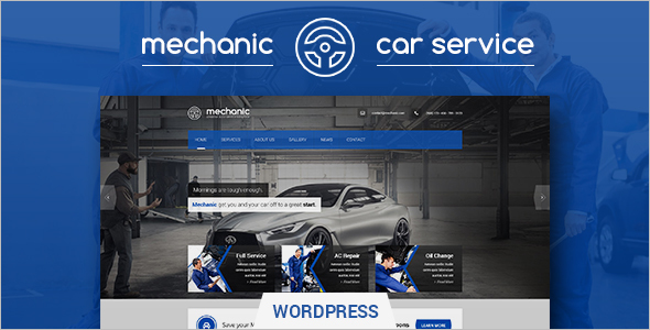 Automotive Car Polishing WordPress Template